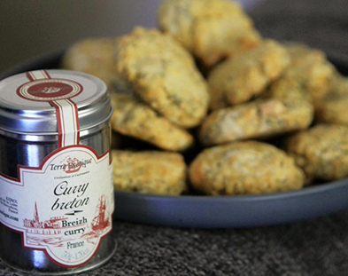 COOKIES SALÉS AU CURRY BRETON